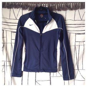 Nike Team Dri-Fit Navy Zip-Up Track Jacket